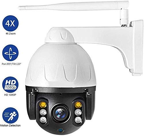ZHSB ZXY IP-camera, halve bol, voor buiten, 1080P, 2,4 G, wifi, kleur nachtzicht, bidirectionele bewegingsdetectie, audio, IP66 waterdicht