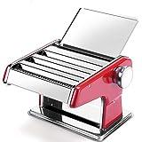 YUHT Máquina para Hacer Pasta, Máquina de Fideos Manual, Máquina de prensado pequeña multifunción Máquina de amasar de Acero Inoxidable Máquina de pelar empanadillas