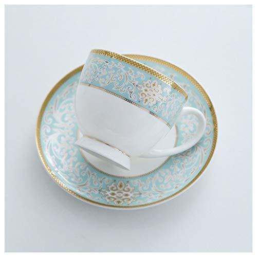 Taza de café Luz de lujo británica de la tarde taza de té de la taza de café Conjunto Europea del Café / flor taza de té con el oro Lamer cappuccino, negro Taza de té, británica taza de café Taza