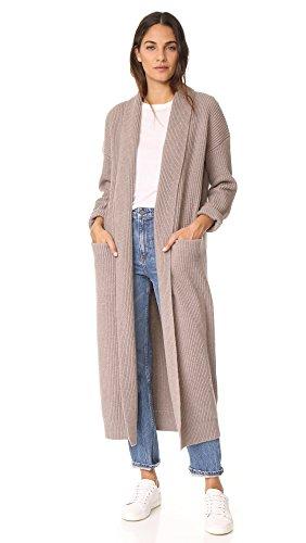 Vince Damen Bademantel Sweater Robe - Beige - X-Klein
