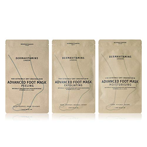 Dermavitamins Advanced Foot Mask Bag - Repairs Dry Feet (3 Pack)