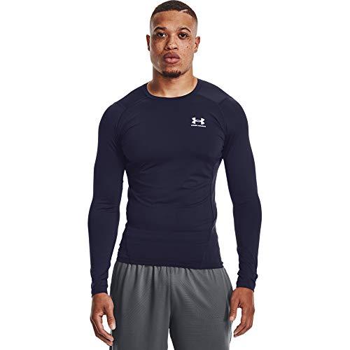 Under Armour Camiseta de compresión Heatgear para Hombre, Hombre, Camiseta, 1361524-410, Midnight Navy White 410, Medium