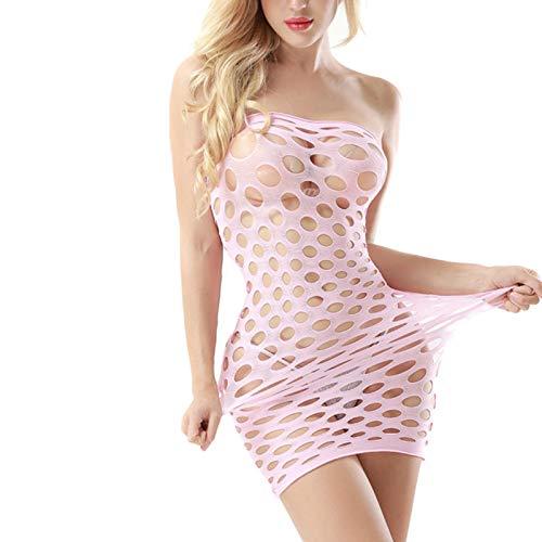 Tiny Ropa Interior de Rejilla, lencería Sexy de algodón elástico, Vestido de muñeca de Malla Caliente, lencería erótica para Mujeres, Disfraces sexuales