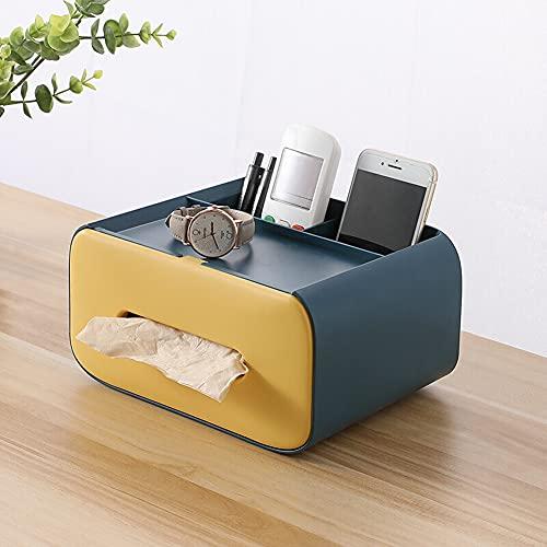 H·Aimee Caja De Pañuelos Multifunción,Mando a Distancia y Soporte de pañuelos,Organizador con Caja de pañuelos - 21x16x11.5cm