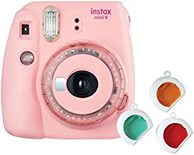 Fujifilm instax Mini 9 Instant Film Camera (Clear Pink) Special Edition w/Color Filters