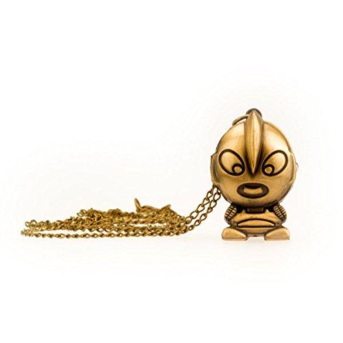 TU 49 con cómic y colgante de larga cadena dorado imitación, collar...