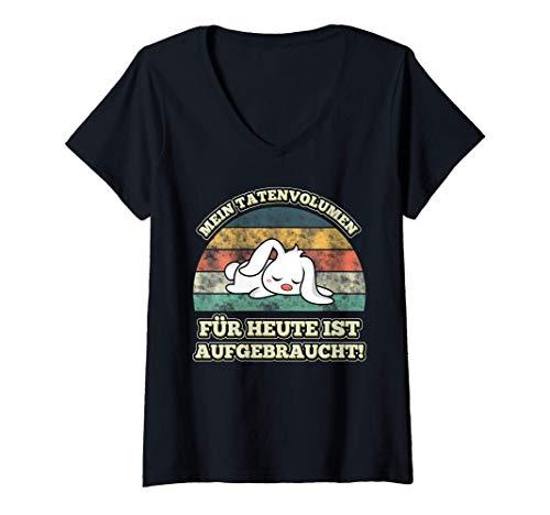 Damen Mein Tatenvolumen für heute ist aufgebraucht Schlafshirt T-Shirt mit...