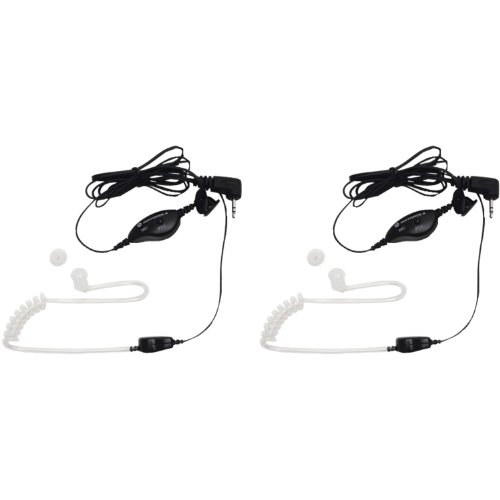 Buy Discount Motorola 1518 Surveillance Headset with PTT Mic, Black, White