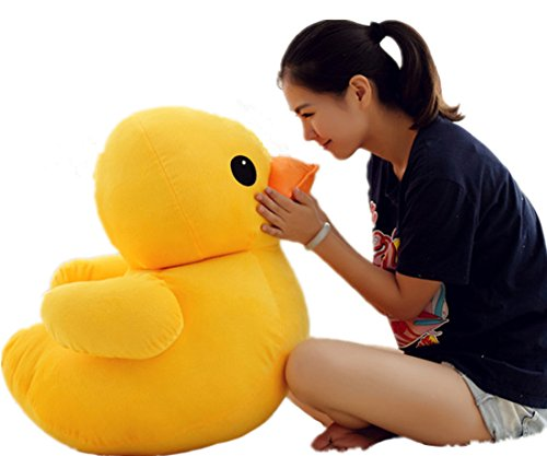 PeiGee 75CM Giant Plush Yellow Duck Soft Stuffed Animal Toy Sofa Decoration for Kids Birthday