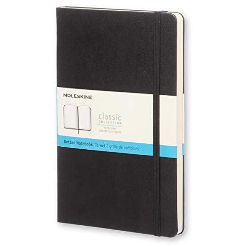 Moleskine Classic Notebook, Taccuino con Pagine Puntinate, Copertina Rigida e Chiusura ad Elastico, Formato Large 13 x 21 cm, Colore Nero, 240 Pagine