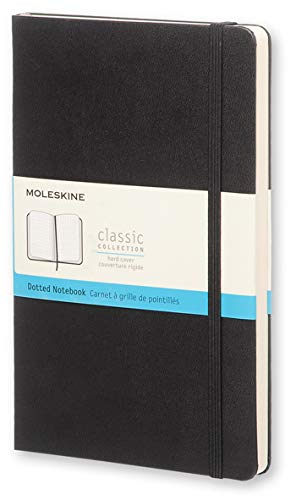Moleskine Classic Notebook, Hard Cover, Large (5' x 8.25') Dotted, Black