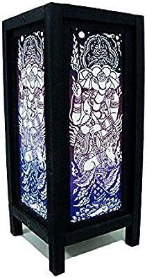 Antiques 2019 Latest Design Vintage Metal Shadow Light Box Electric Asian Garden Geisha Painted Glass Other Antique Decorative Arts