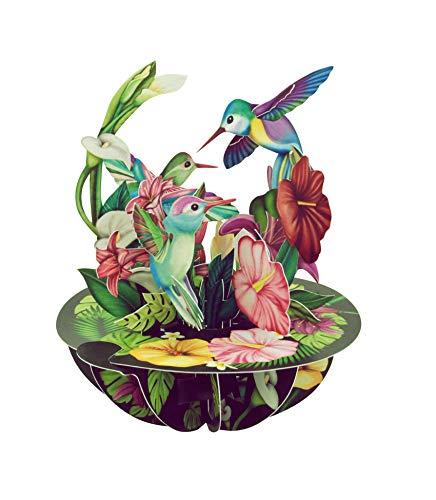 Hummingbirds Pirouette - Santoro 3D Pop-Up Greeting & Birthday Card For Her