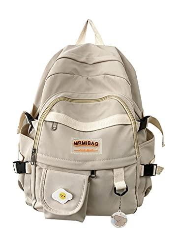 HMMHHE Sac à Dos léger Sac à Dos High School Sac à Dos Adolescent Filles Daypack Fit pour Les achats Scolaires Voyage Quotidien (Noir Jaune, 16 litres) (Color : White, Size : 16 Liters)