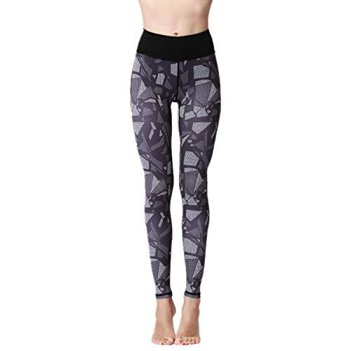 NIGHTMARE Leggings de Yoga elásticos para Mujer, Pantalones de Yoga con Control de Barriga de Cintura Alta para Gimnasio, Entrenamiento, Mallas de Yoga cómodas XL