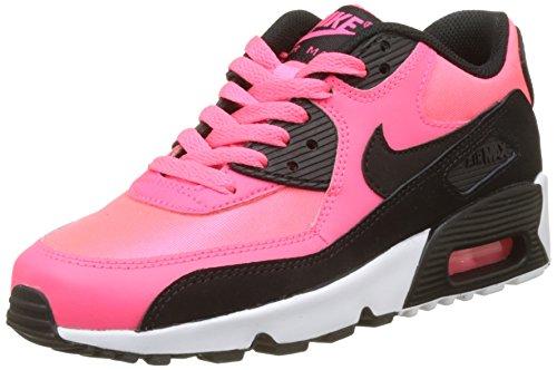 Nike Nike Jungen Air Max 90 Mesh Gg Gymnastikschuhe, Mehrfarbig (Racer Pink/Black/White), 36 EU