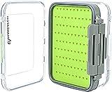 Maximumcatch Doppelseite Wasserdichte Fliegenbox Easy-Griff-Schaum Fliegendose (Grün, Größe D)