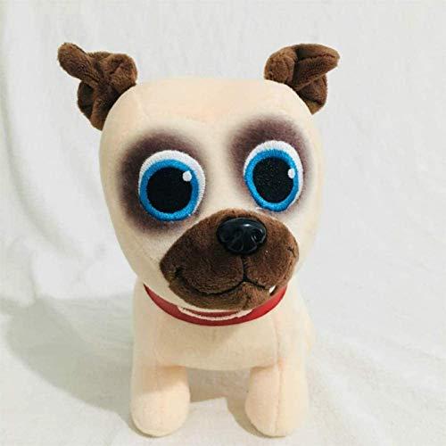 FEIFEI 2pcs Peluche Juguete 20 cm Perro Mascotas Bingo Rolly Relleno Animales Peluche Juguete a