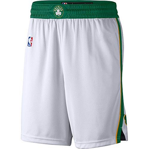 Boston Celtics Youth 8-20 Official Swingman Performance Shorts (Youth - Small, Boston Celtics White Yellow City Edition Shorts)