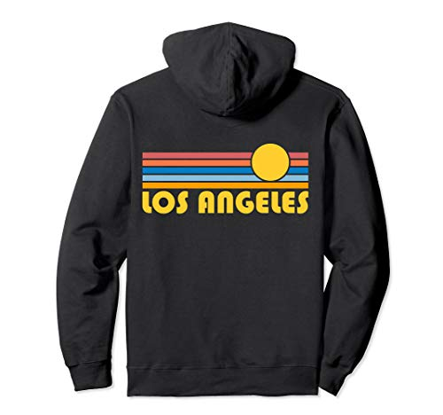 Los Angeles, California Retro Sunset - Los Angeles Pullover Hoodie