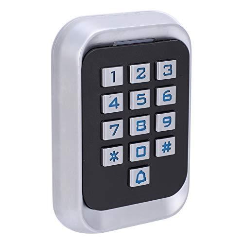 Teclado de acceso con contraseña Antiinterferente Alarma anti-desmantelamiento Teclado de metal Máquina de tarjeta IC para Wiegand 26 Habitaciones residenciales para sistema de entrada de