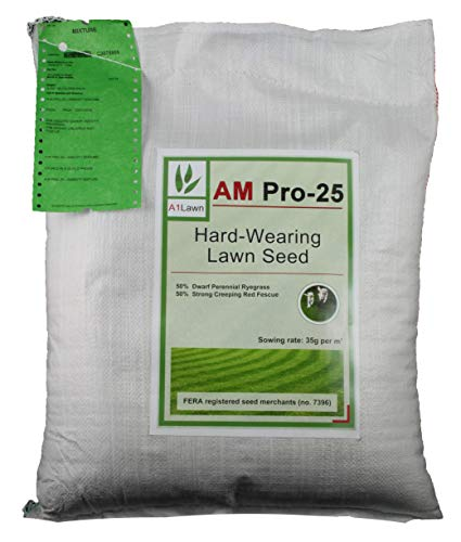 A1LAWN AM Pro-25 Super Tough/Hard-Wearing Grass Seed