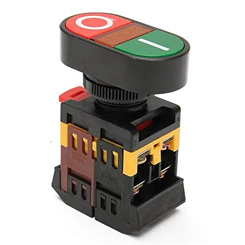 Switched Electrical Red Green Power ON/OFF Start Stop Push Button Light Indicator Switch 220V