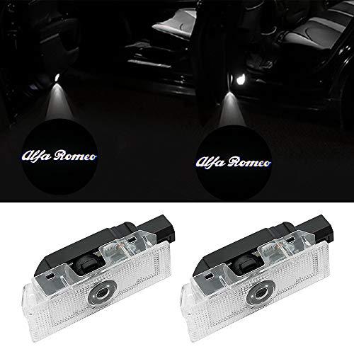 Auto senza fili porta-2Pcs High Definition logo LED proiettore ombra ShadowCortesia Benvenuto Ghost Light