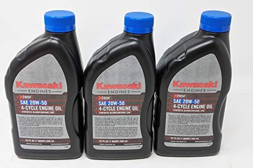 Kawasaki 99969-6298 SAE 20W-50 4-Cycle Engine Oil (3-Quarts)