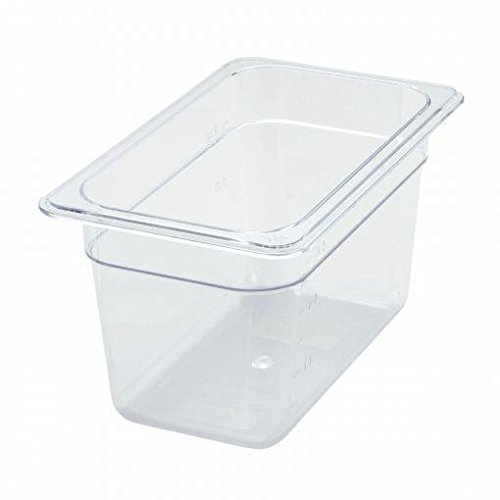 Best Bargain Fourth-Size Poly Food Pan, 6 Deep- Quantity of 3