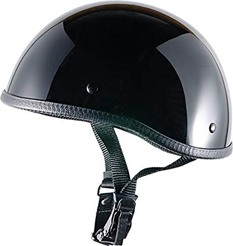 CRAZY AL'S WORLDS SMALLEST HELMET SOA INSPIRED IN GLOSS BLACK WITH OUT VISOR - X-Large