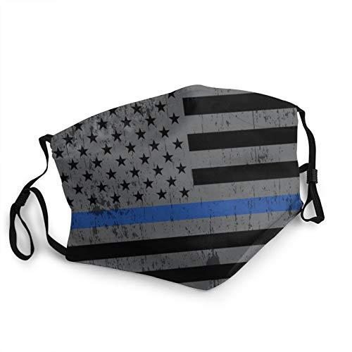 Police Support Flag Grey American Flag Mask Face Mask Usa Flag Mask Patriotic Mask Washable