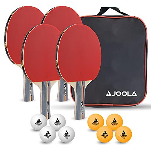 JOOLA Tischtennis-Set TEAM SCHOOL Bestehend aus 4 Tischtennisschläger...