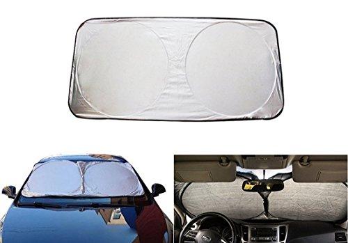 junyun coche delantero ventana Parasol pantalla parabrisas Parasol Jumbo Premium plegable UV Pantalla exterior escudo Guardia Extra grande para coche camión SUV