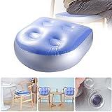 Ivyshion - Cojín de asiento hinchable para adultos y niños, cojín de spa, alfombra de masaje para asiento auxiliar hinchable suave