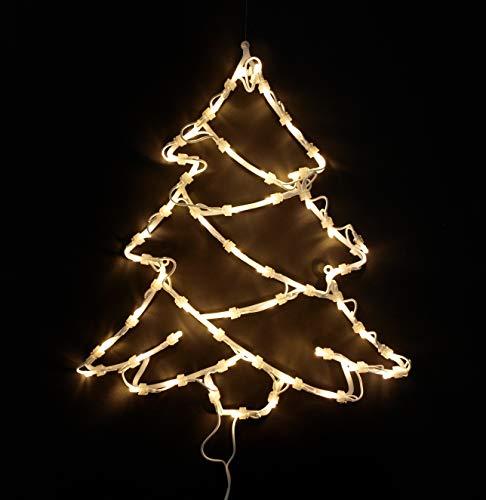 Fensterbild beleuchtet 42cm mit 50 LED, Motiv Weihnachtsbaum, mit Saugnapf, Netzbetrieb 230V
