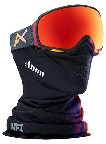 Anon Damen Tempest Snowboardbrille, Aura Black/Red Solex, One Size