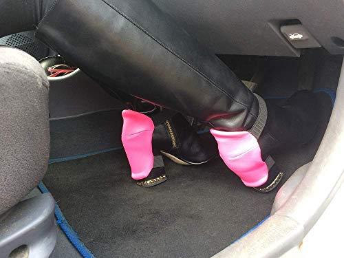 Einfach zu bedienen! Stiefel-Fersenschutz für Frauen, um abriebfreie Blockabsätze und Schuhe zu fahren, Für schöne Stiefel/Schneller als wechselnde Stiefel/Rosa Fersenschutz