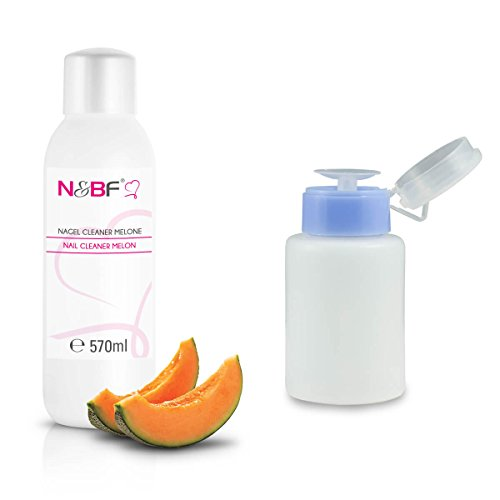 ongles Cleaner Parfum melon 570 ml + Distributeur Bouteille à pompe Bleu 150 ml