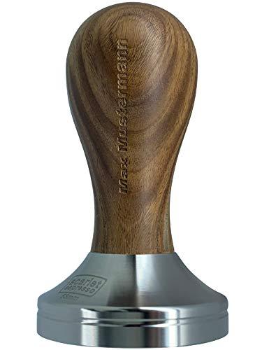 scarlet espresso | Tamper »Classic« - Met persoonlijke naam gravure in edelhouten handvat 41 mm Sandelhout - bruin