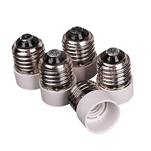 5 PCS E27 al zócalo del Adaptador E14, Medium Tornillo para Base Intermedia Bombilla Sujetador del Conector del convertidor del Adaptador de la lámpara LED Reductor