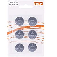 Pack de 6 Pilas CR2025 3V Alcalinas, Tipo Botón de Litio en Blister