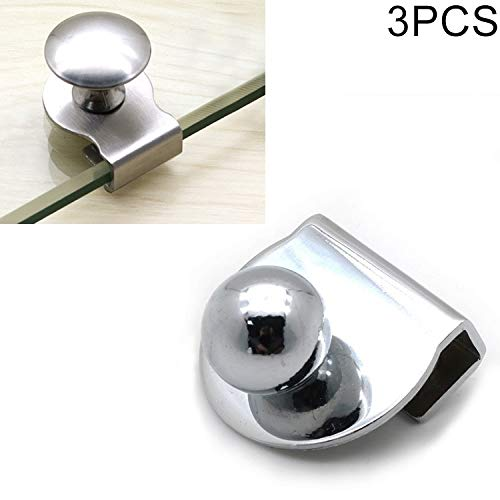 MENGYUE Handle 3 PCS Zinc Alloy Bright Open Hole Free Glass Cabinet Door Handle, Size: L. handle knobs