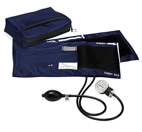 Prestige Medical Premium Adult Aneroid Sphygmomanometer, Navy, X-Large, 15.00 Ounce
