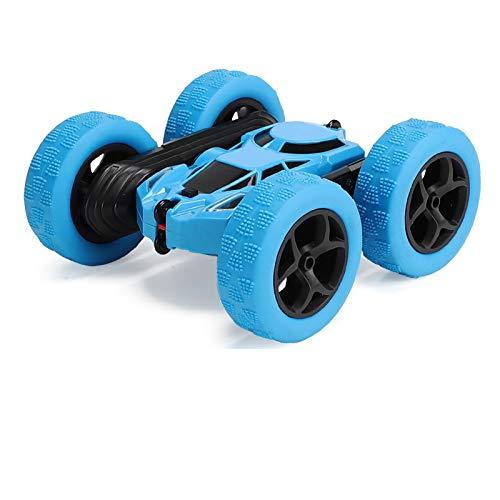 Kind Fernbedienung Spielzeugauto Doppelseitig Stuntauto 360 ° Rotieren Rollen Hochgeschwindigkeitsauto Licht...