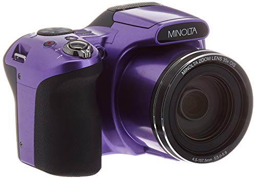 Minolta 20 Mega Pixels Wifi Digital Camera with 35x Optical Zoom & 1080p HD Video Optical with 3-Inch LCD, 4.8 x 3.4 x 3.2, Purple (MN35Z-P)