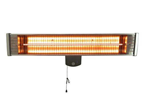 Zonnestraal infraroodstraler Professional, 1800 W, IP55 spatwaterdicht, verwarmingsstraler, terrasverwarmer met afstandsbediening en wandhouder