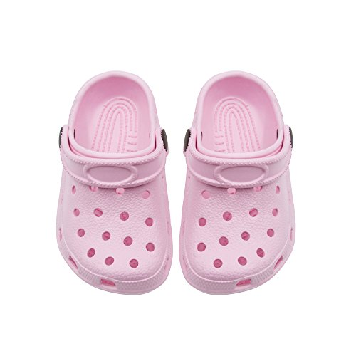 Shocked Toddler Rubber Foam Slingback Clogs with Ventilated Upper Size 11-12 Light Pink