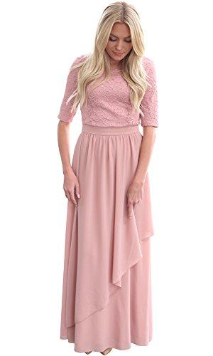 Mikarose Lauren Modest Maxi Dress In Mauve