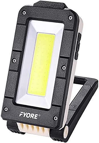 Fyore Luz de Trabajo LED Recargable, Luz de Inundación, Linterna al Aire Libre Impermeable para la Reparación de Automóviles, Pesca, Camping, Luces de Seguridad de Emergencia,Portátil USB